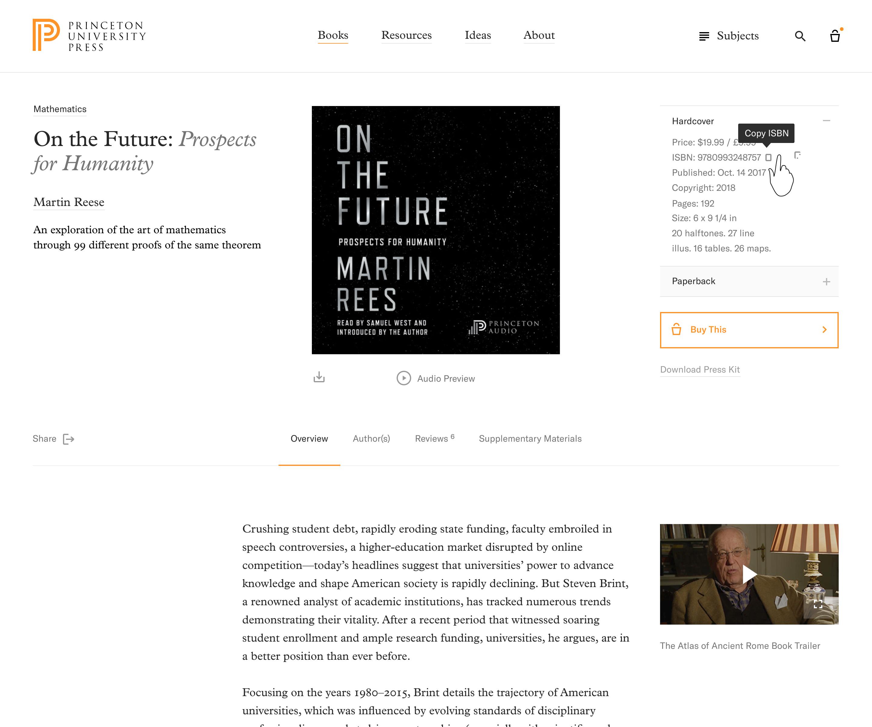Princeton Press | Product page